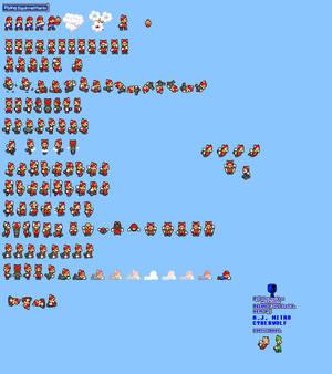 MLSS Flying Squirrel Mario Sprites Sheet