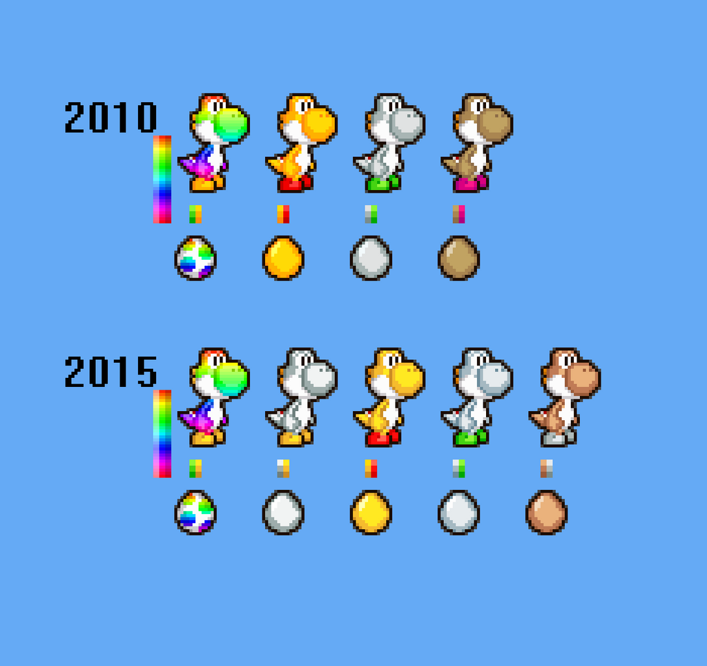 New custom yoshi colors by pxlcobit on deviantart for What color is mario