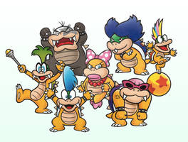 The Koopalings 2D by PxlCobit