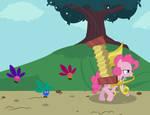 Pinkie Pie with parasprites