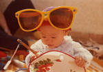 Baby Me in Giant Sunglasses by Angel-Awaiting