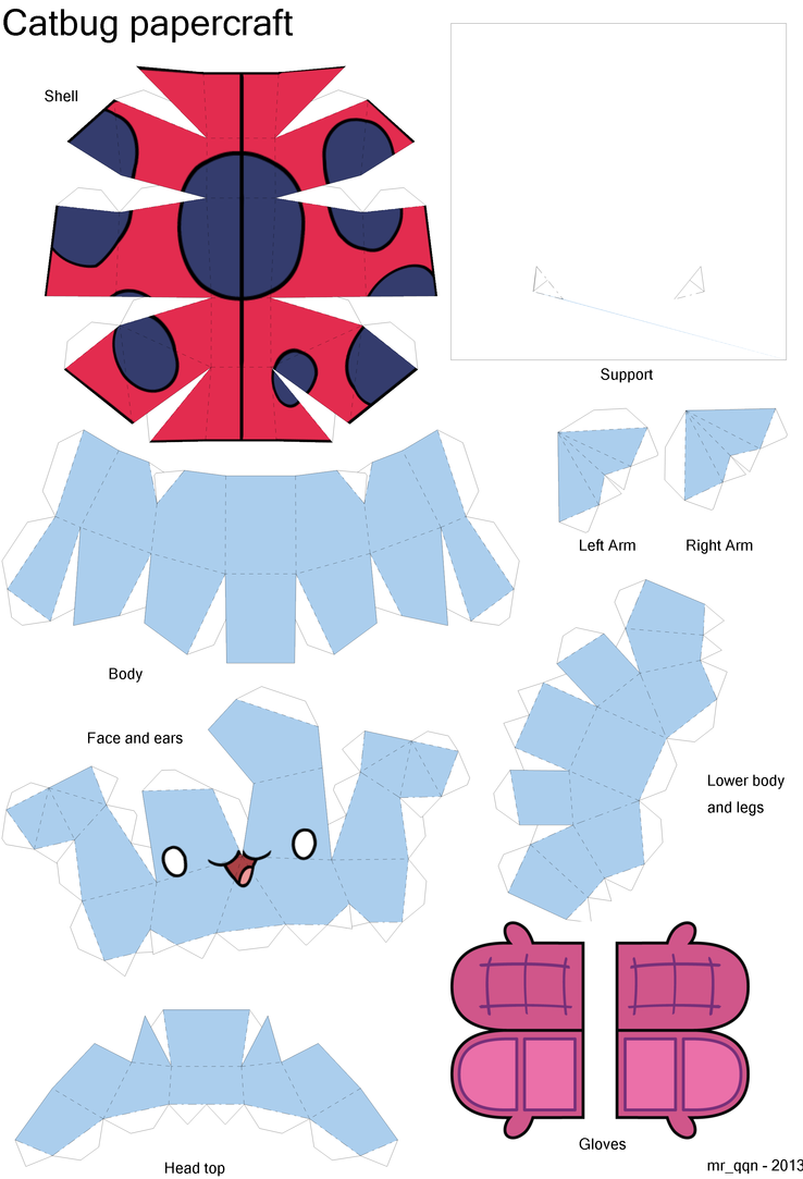 Catbug papercraft (model) by MrQqn