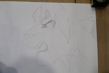Simba very strongly got angry on by LiontheNorthernlands
