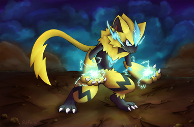 The electric kitty - Zeraora by RaLFFyKung