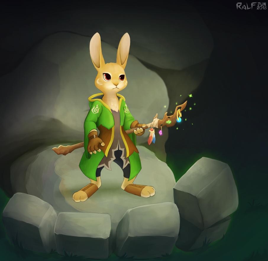 Rabbit Geomancer by RaLFFyKung