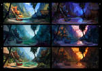 moonlight departure - color variations