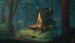 House in the Woods by Chris-Karbach