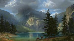 Oeschinensee (VPA) - tribute to Albert Bierstadt
