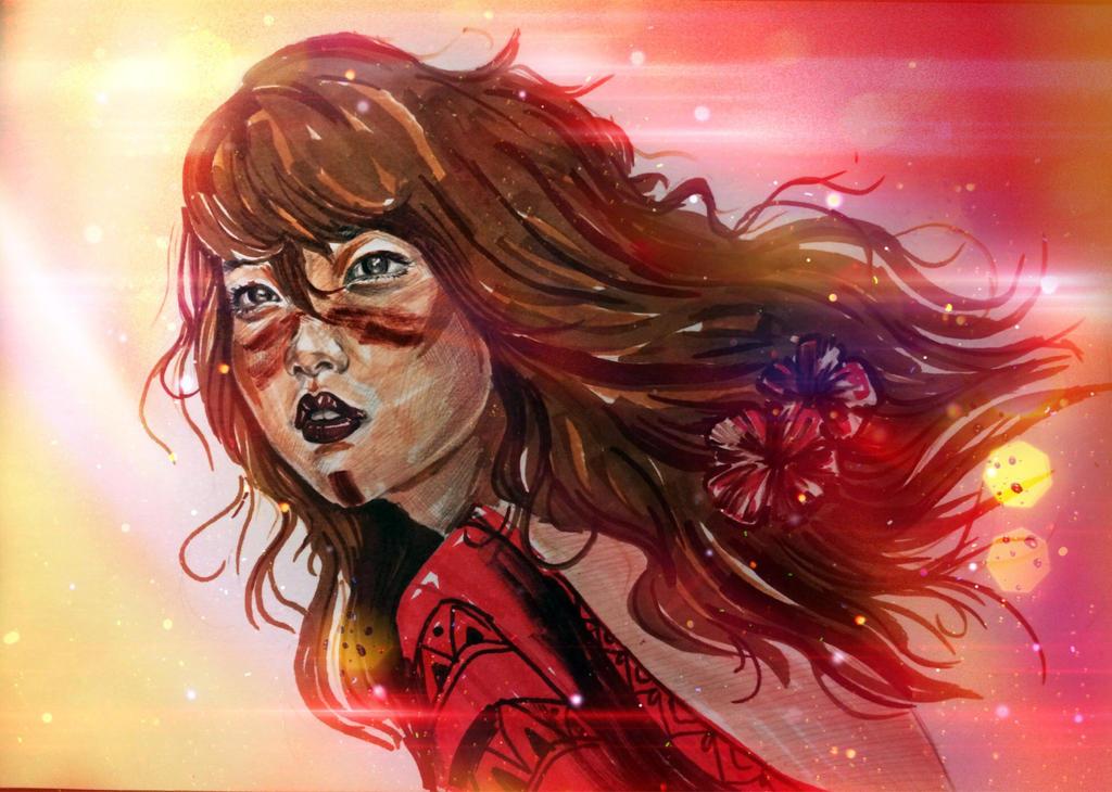 flaming lady by CausaEssendi