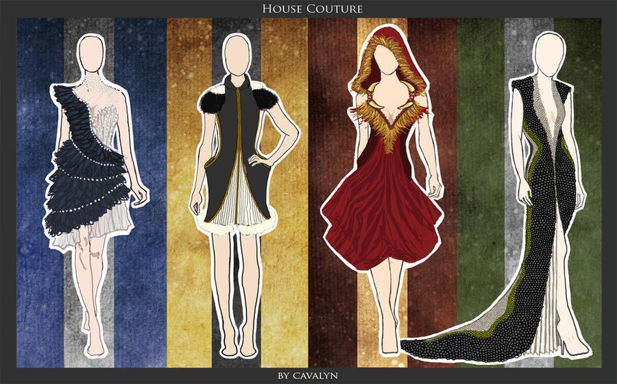 Hogwarts House Couture by DistantDream on DeviantArt