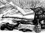 Ariane Eldar gets a feet massage
