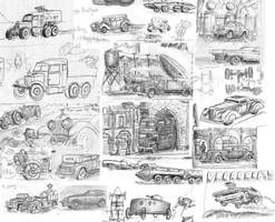 Vehicle doodles 01 by SteampunkGorgon