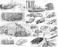Vehicle doodles 02 by SteampunkGorgon