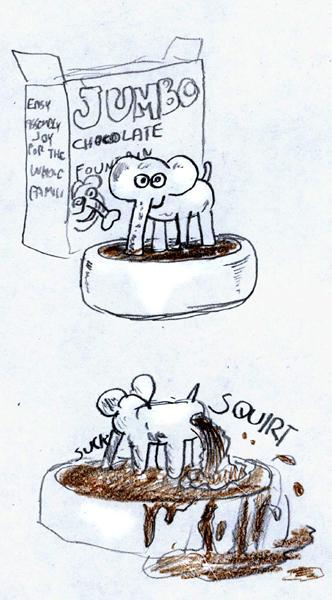 Elephant chocolate fountain