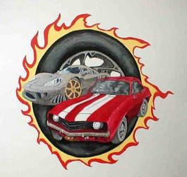 Cool Cars Mural by Manifold2