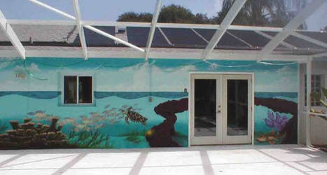 poolside ocean mural continued by Manifold2