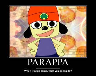 Parappa promotional poster by yumifan