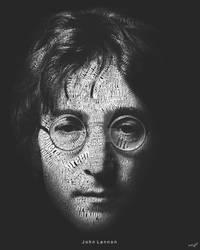 John Lennon Typography by alif32