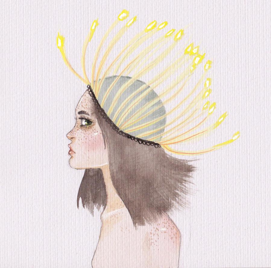 Dandelion headpiece by Busbi