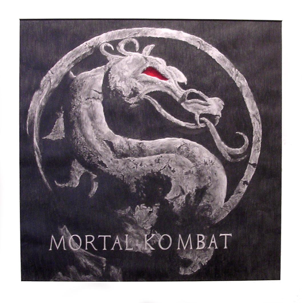 mortal kombat movie logo by yoshiokun13 on deviantart