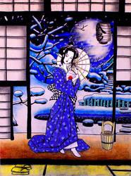 A Japanese Winter Night by YoshioKun13
