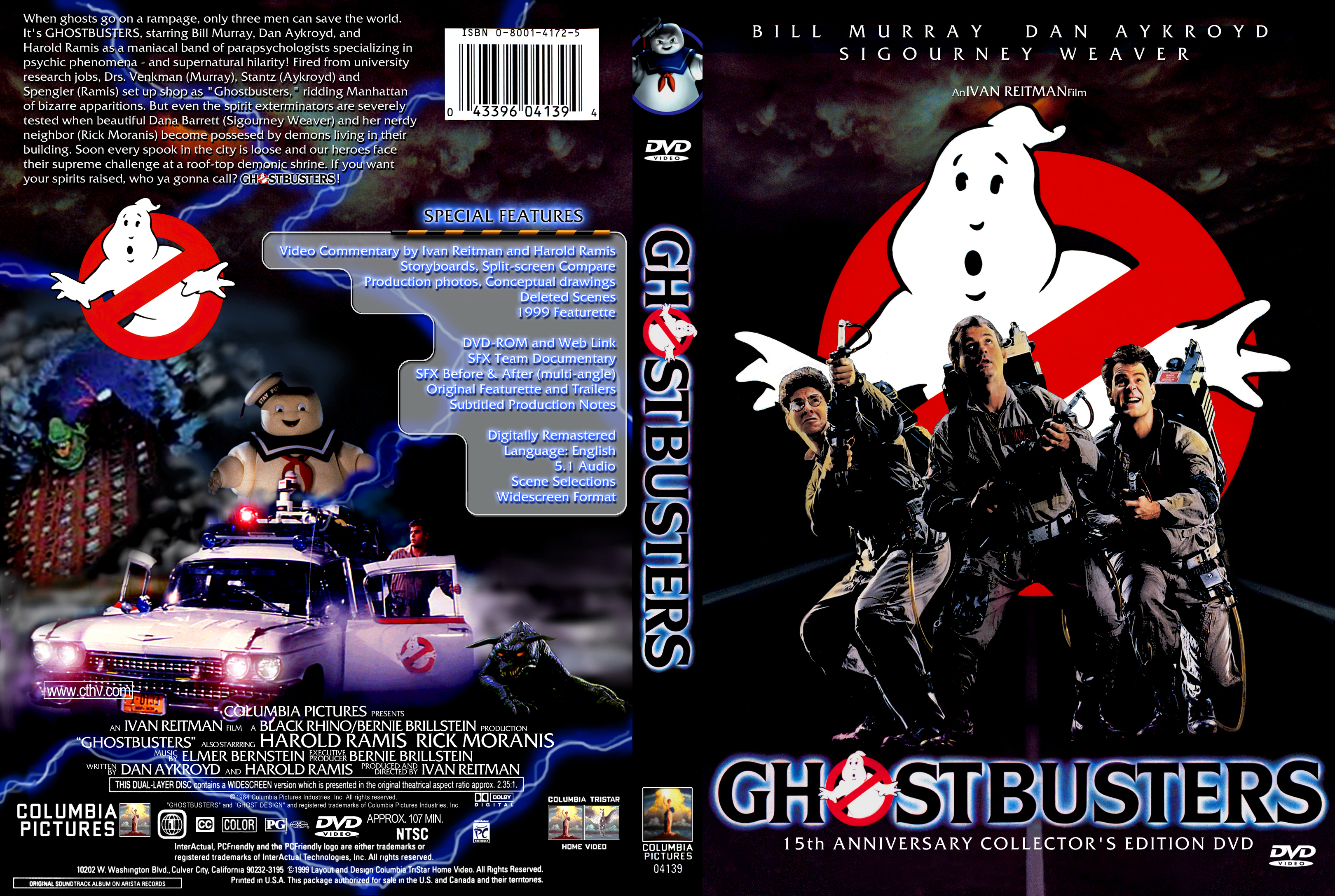 Ghostbusters DVD Cover A by YoshioKun13 on DeviantArt