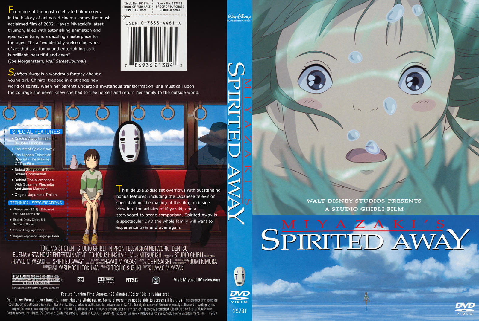 SPIRITED AWAY DVD Cove...