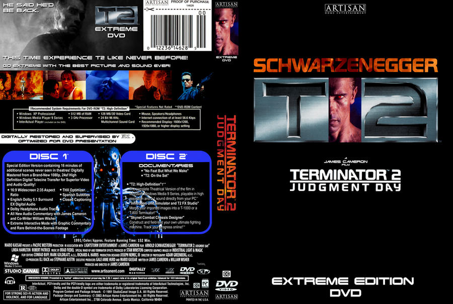Terminator 2 extreme dvd cover