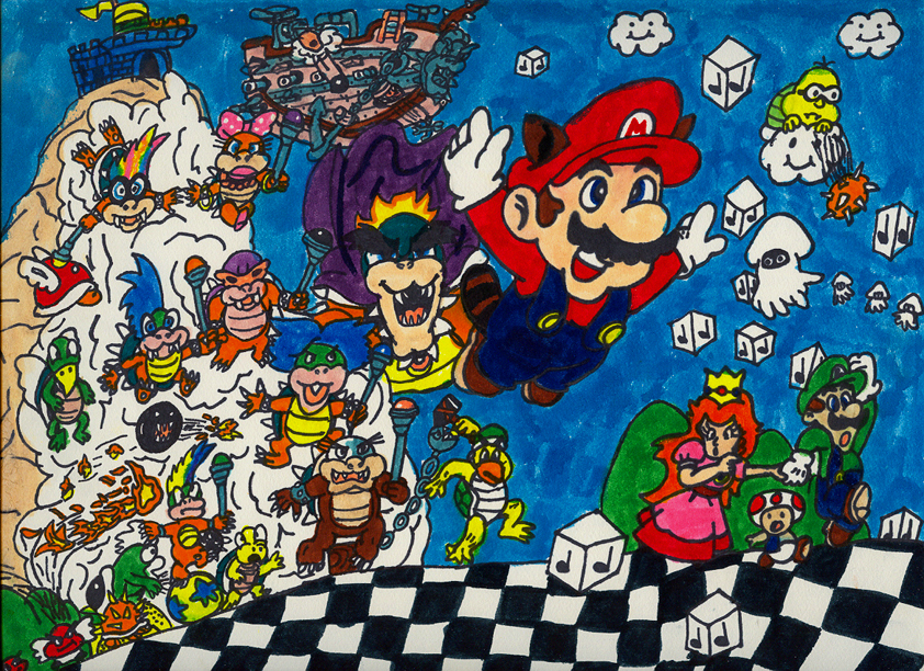 Super Mario Bros 3 Poster By Yoshiokun13 On Deviantart