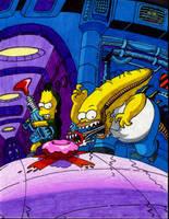 'Aliens' - Simpsons Style