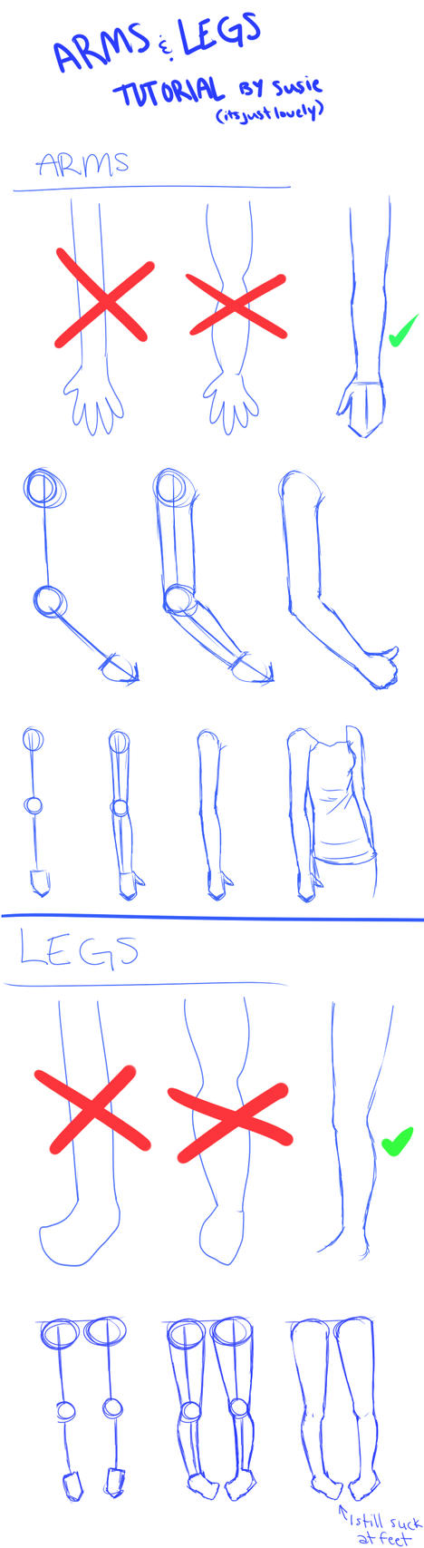 ARMS n' LEGS Tutorial by ItsJustLovely