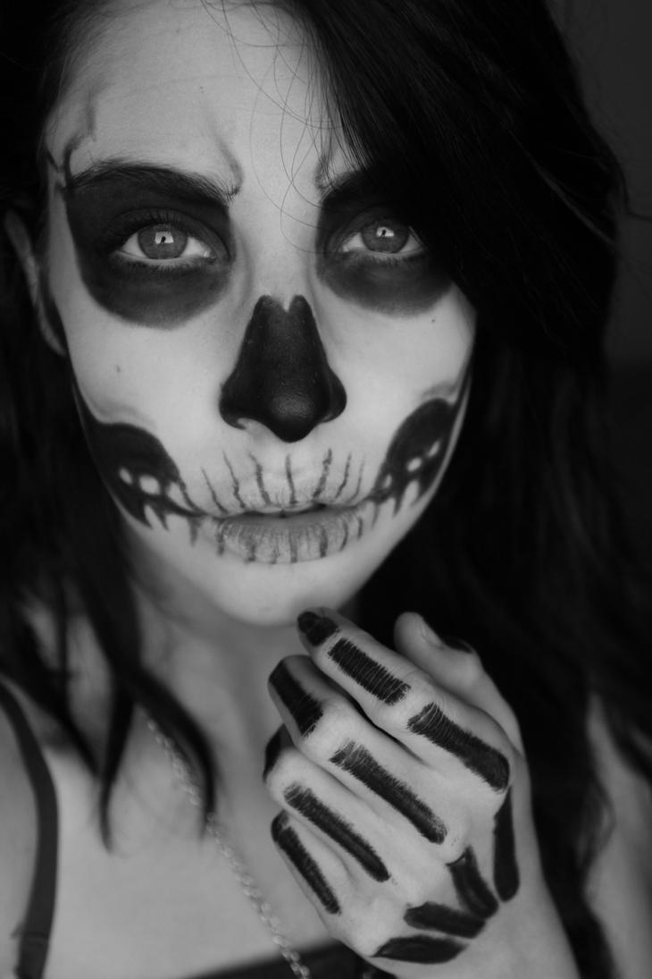 Halloween Skull Makeup by ScarletWarmness on DeviantArt