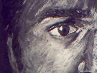 Detail of self-portrait 1 by doomferret