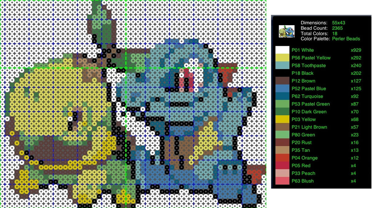 pokemon perler bead pattern turtwig and totodile by ladyjirachi on