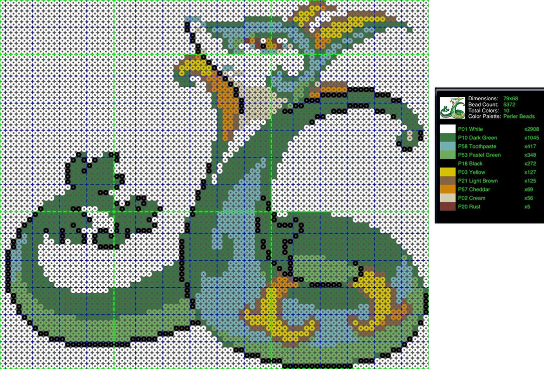pokemon perler bead pattern serperior by ladyjirachi on deviantart