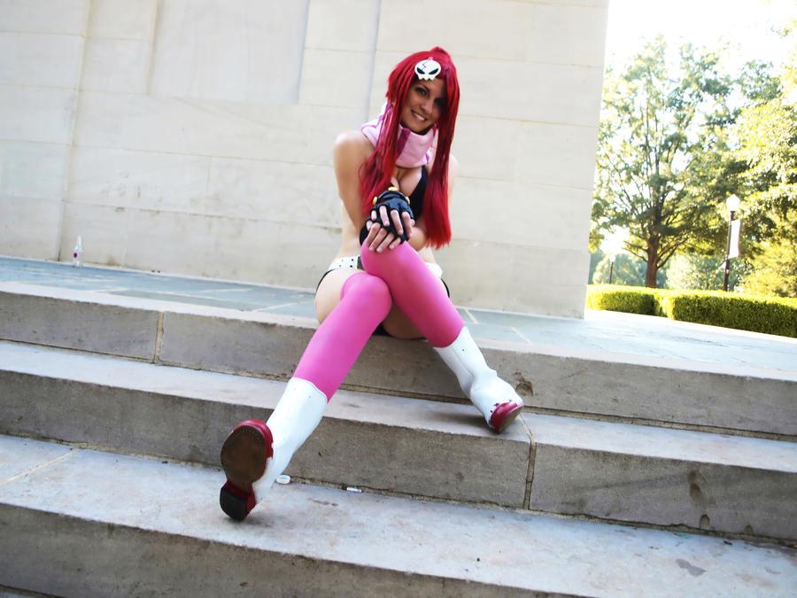 Yoko on Stairs by Hikari-Cosplay