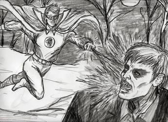 Green Lantern Alan Scott Battling Solomon Grundy by CharmingCurmudgeon