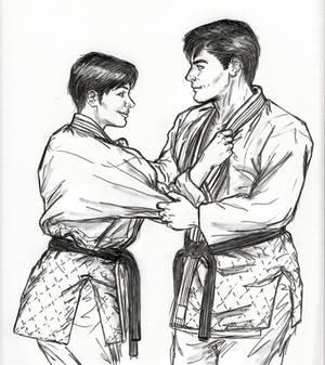 Selina And Bruce Engage In Judo Randori