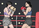 Tracey Squaring Off Against An Eager Opponent by CharmingCurmudgeon