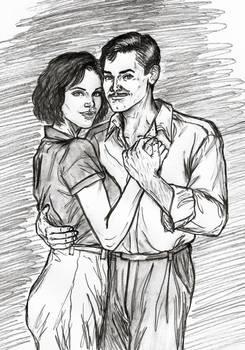 Sandra With Her Boyfriend, Conrad Emmerich