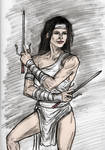 Elektra Alluringly Clad In White by CharmingCurmudgeon