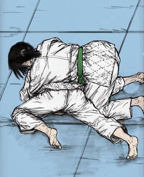 Friendly Judo Randori Between Gal Pals 007