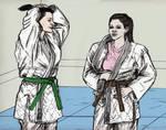 Friendly Judo Randori Between Gal Pals 013 by CharmingCurmudgeon
