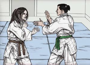 Friendly Judo Randori Between Gal Pals 022