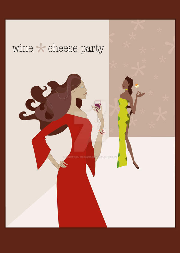Wine and Cheese Party Invite by chopson-designs on DeviantArt
