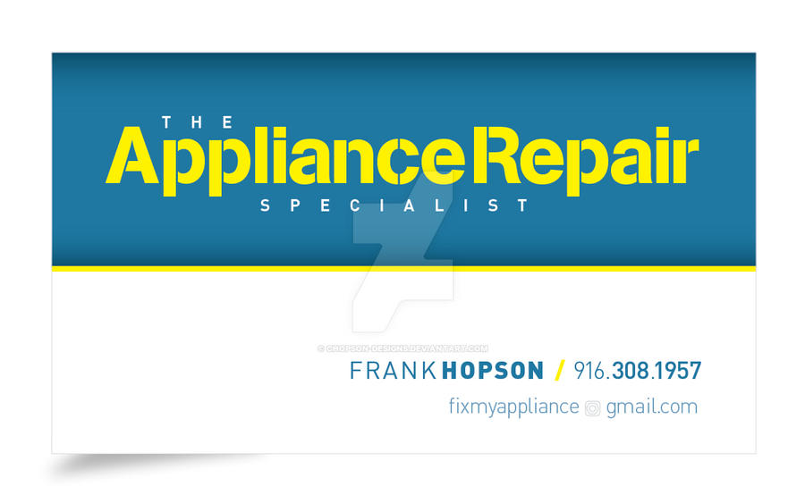 Appliance Repair Specialist Business Card (Front) by chopson ...