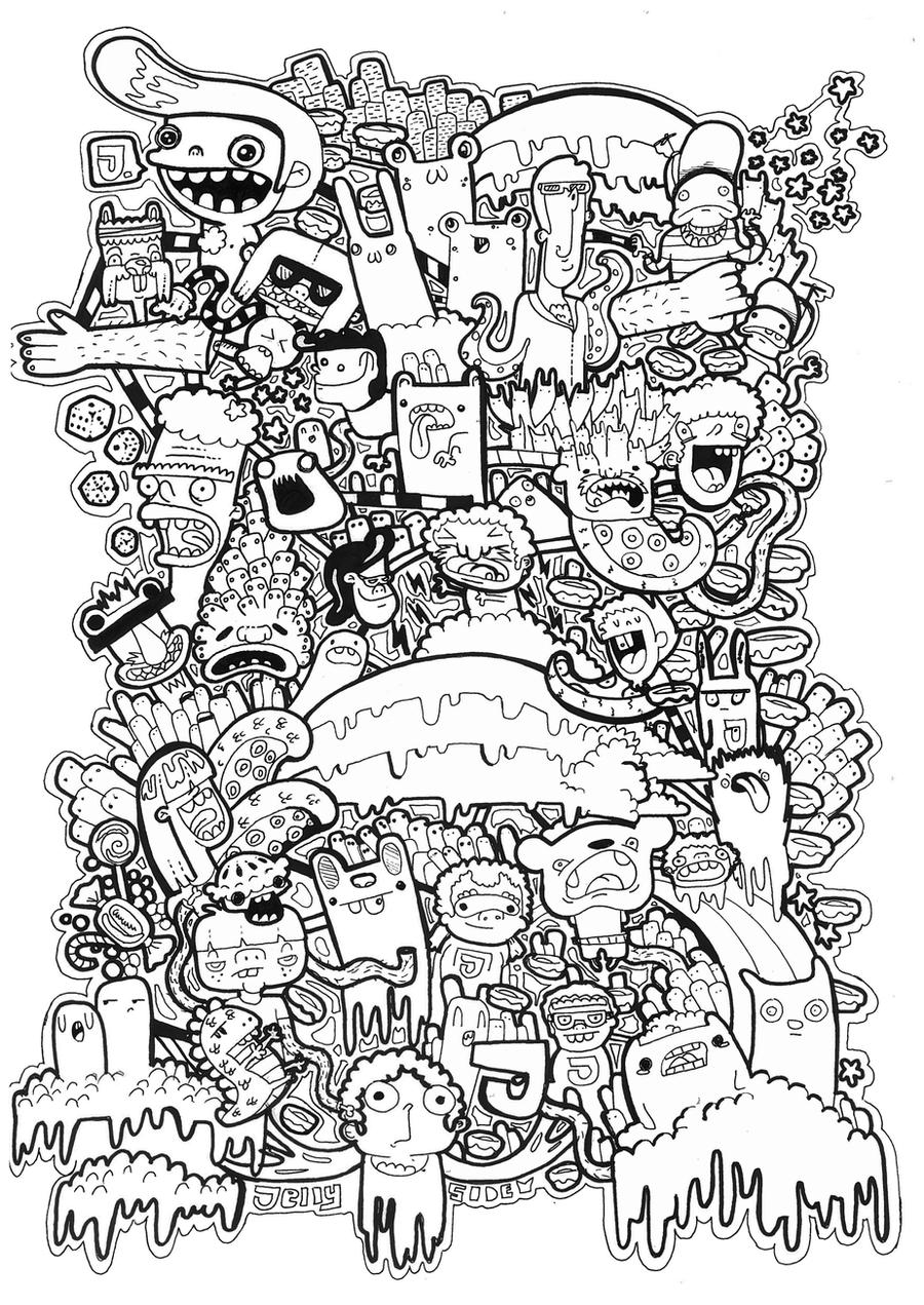 Doodles T Shirt Graphic Vol 2 By Jellyside On Deviantart Cool Shirt Coloring Pages