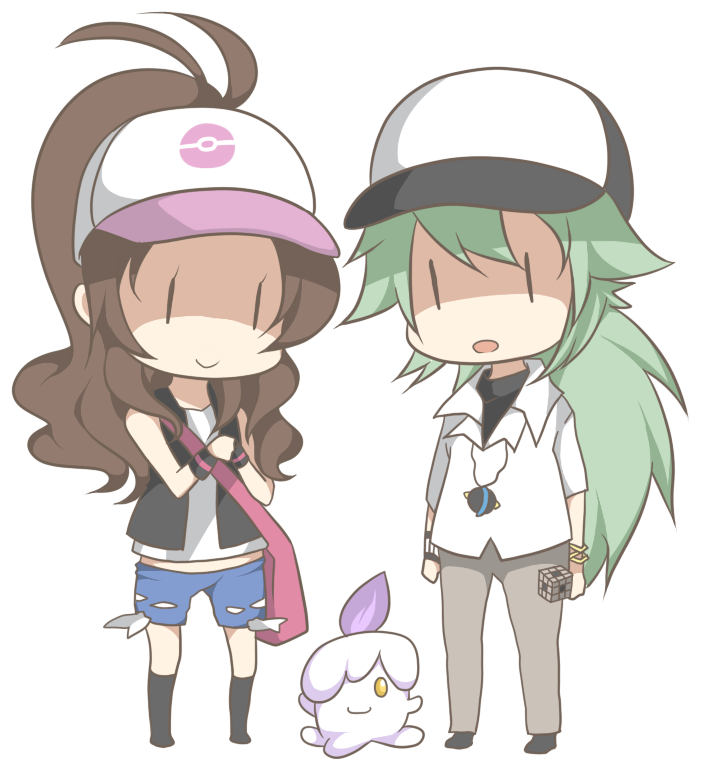 chibi n and touko by rurichu on deviantart