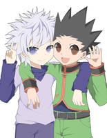 Killua and Gon by ruri-chu