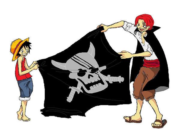 صور كثيرة ونادرة لليونكو شانكس Luffy_and_Shanks_by_wiilde